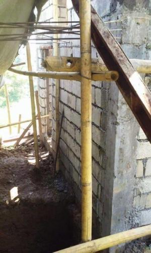 toiletgebouw in aanbouw 1